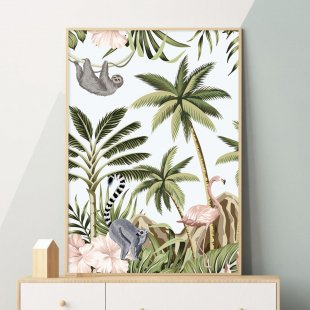 Poster, Flamingo jungle