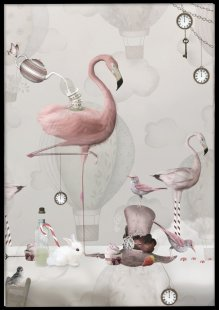 Poster, Flamingo tea