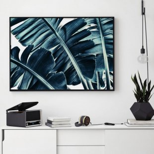 Poster, Blue Banana Leaves