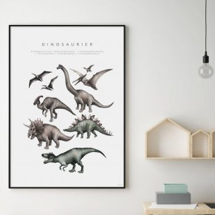 Poster, Dinosaurier