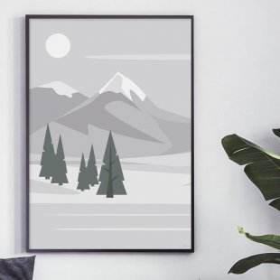 Poster, Winter Landscape