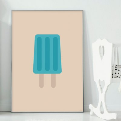 Poster, Blue icecream